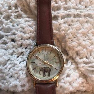 World map vintage watch